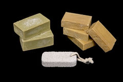 Homemade Soaps And Pumice Stone Royalty Free Stock Image