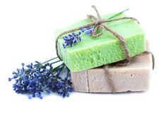Homemade soaps Royalty Free Stock Images