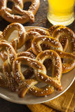 Homemade Soft Pretzels with Salt Royalty Free Stock Image