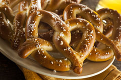 Free Homemade Soft Pretzels With Salt Royalty Free Stock Photography - 38732247