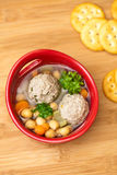 Homemade soup with meatballs Royalty Free Stock Photo