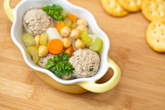 Homemade soup with meatballs Stock Images