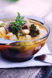 Homemade Soup of pork Stock Photography