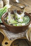 Homemade soup of river fish in the bowl Stock Image