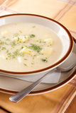 Homemade soup of sauerkraut, cream and potatoes Royalty Free Stock Images