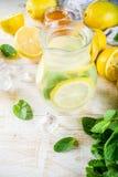 Homemade sour cocktail lemonade stock photo