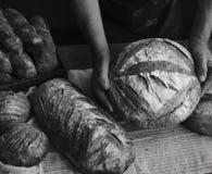 Homemade sourdough bread food photography recipe idea Stock Image