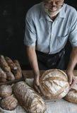 Homemade sourdough bread food photography recipe idea Royalty Free Stock Photography