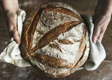 Homemade sourdough bread food photography recipe idea Stock Photo