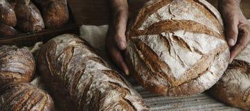 Homemade sourdough bread food photography recipe idea Stock Photography