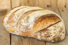Homemade sourdough bread. Freshly baked until crispy. Royalty Free Stock Image