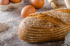 Homemade sourdough bread rustic Stock Images
