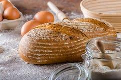 Homemade sourdough bread rustic Stock Photography