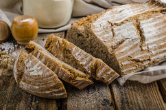 Homemade sourdough bread. Very healthy, very simple to make, delicious, place for your advertisment Stock Images