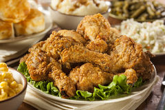 Homemade Southern Fried Chicken Royalty Free Stock Photos