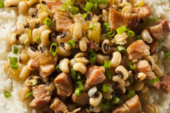 Homemade Southern Hoppin John stock photo