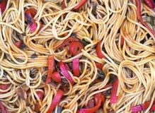 Homemade Spaghetti. Close up spaghetti with tomato sauce Stock Photography