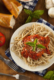 Homemade Spaghetti with Marinara Sauce Royalty Free Stock Photo