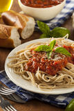 Homemade Spaghetti with Marinara Sauce Royalty Free Stock Image