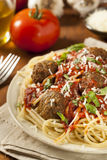 Homemade Spaghetti and Meatballs Pasta Royalty Free Stock Photography
