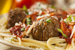 Homemade Spaghetti and Meatballs Pasta Royalty Free Stock Images