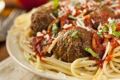 Homemade Spaghetti and Meatballs Pasta Royalty Free Stock Photo