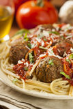 Homemade Spaghetti and Meatballs Pasta Stock Photography