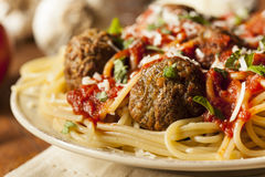 Homemade Spaghetti and Meatballs Pasta Royalty Free Stock Photo