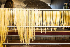 Homemade spaghetti Stock Photography