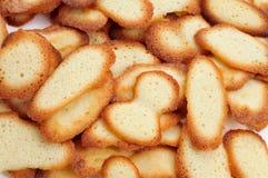 Homemade spanish cookies lenguas de gato Royalty Free Stock Images