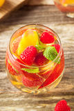 Homemade Sparkling White Wine Sangria Royalty Free Stock Images