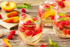 Homemade Sparkling White Wine Sangria Royalty Free Stock Image