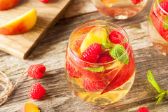 Homemade Sparkling White Wine Sangria Stock Image