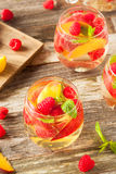 Homemade Sparkling White Wine Sangria Royalty Free Stock Photo
