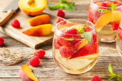 Homemade Sparkling White Wine Sangria Royalty Free Stock Photography