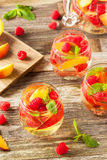 Homemade Sparkling White Wine Sangria Royalty Free Stock Photos