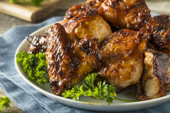 Homemade Spicy Barbecue BBQ Chicken. With Brown Sauce stock photos