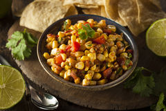 Homemade Spicy Corn Salsa Stock Photography