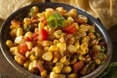 Homemade Spicy Corn Salsa Stock Image