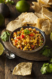 Homemade Spicy Corn Salsa Stock Images
