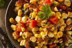 Homemade Spicy Corn Salsa Stock Image