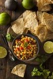 Homemade Spicy Corn Salsa Stock Photos
