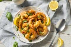 Free Homemade Spicy Garlic Shrimp Stock Image - 116962581