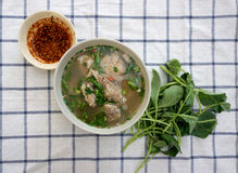 Homemade spicy pork rib soup Royalty Free Stock Photo