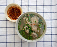 Homemade spicy pork rib soup Royalty Free Stock Photography