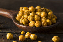 Homemade Spicy Salted Baked Chickpeas Royalty Free Stock Photos