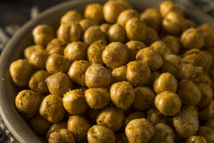 Homemade Spicy Salted Baked Chickpeas Stock Photos