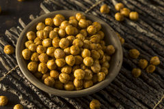 Homemade Spicy Salted Baked Chickpeas Royalty Free Stock Photo