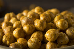 Homemade Spicy Salted Baked Chickpeas Stock Photography