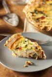 Homemade Spinach and Bacon Egg Quiche Stock Photos